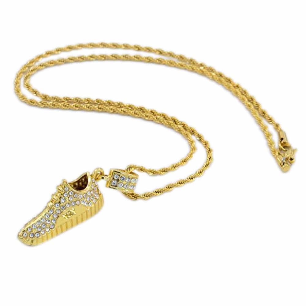Kristal koşu ayakkabıları kolye hip-hop kişiselleştirilmiş ayakkabı kolye güzel moda kolye kolye