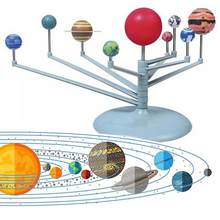 New Nine Planets Solar System Planetarium Painting Model Kit Arts Science Solar Toy Kit Children's Learning Educational DIY Toys(China)