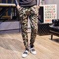 Повседневные Брюки Мужчины Камуфляж Slim Fit Hip Hop Прохладный Карандаш Брюки Военные Тренировочные брюки Армии Брюки Мужчины Бегунов