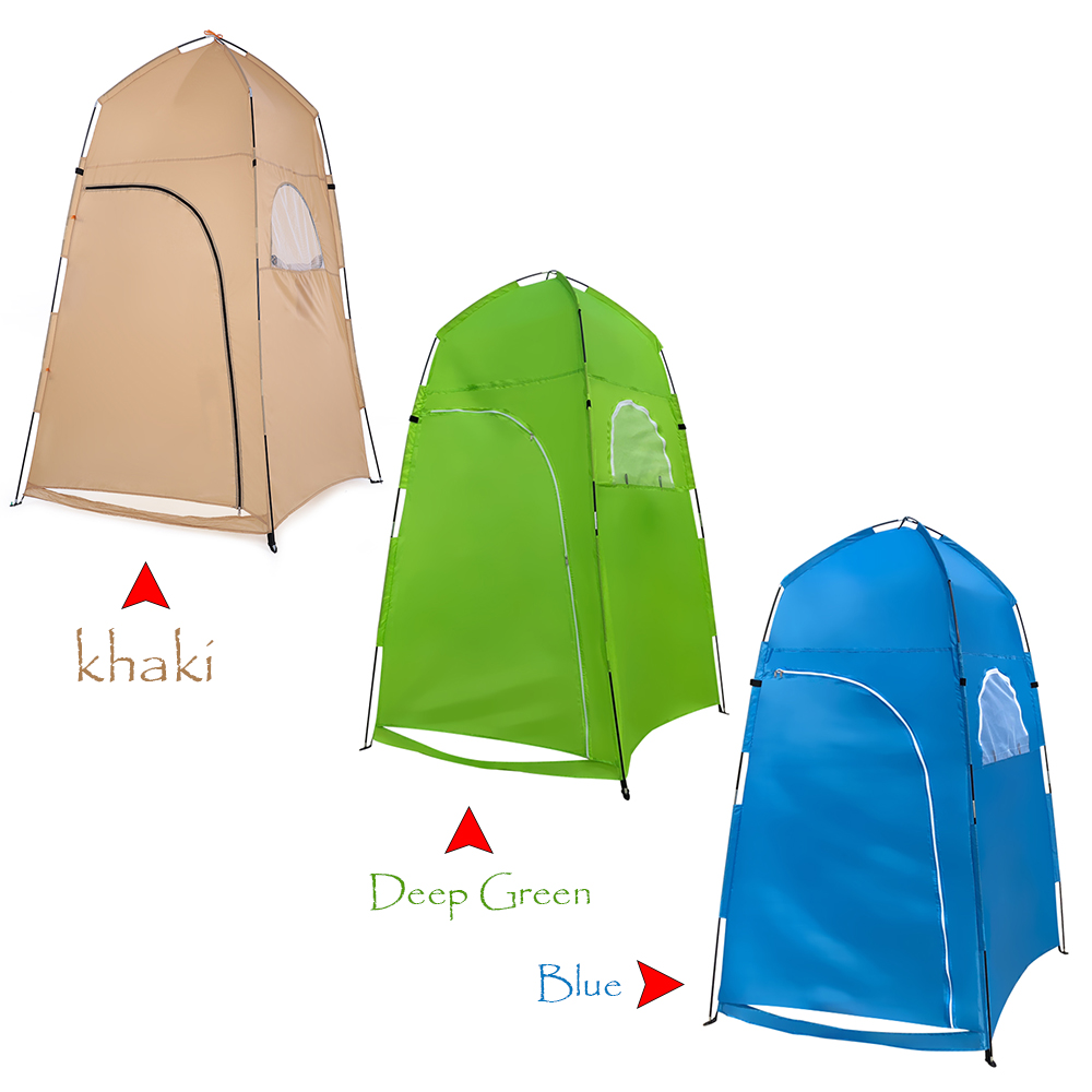 TOMSHOO Portable Camping Tent  With Large Zippered Door Used As Forest And Mountain 10