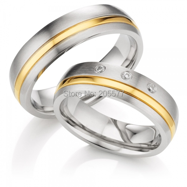 luxury custom made classic domed profile gold inlay titanium health