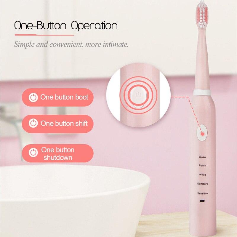 usb recarregavel escovas de dentes com 3pcs 05