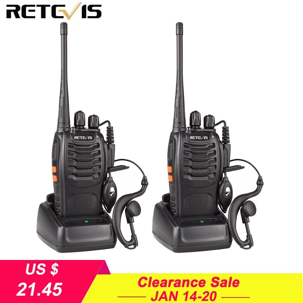 2 stücke Retevis H777 Walkie Talkie 3 W UHF 400-470 MHz Ham Radio Hf Transceiver Two Way Radio communicator USB Ladegerät Walkie-talkie
