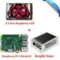 """Raspberry Pi 3 Model B Board +3.5"""" LCD Touch Screen Display with Stylus + Acrylic Case Free Shipping"""