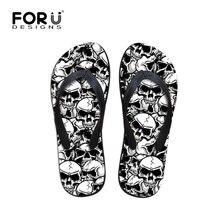 Foru Дизайн s'cool панк черепа зомби Дизайн Для Мужчин's Сланцы модная летняя пляжная вода резиновый Шлёпанцы для женщин мужские туфли на плоской подошве Босоножки