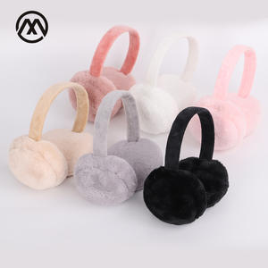 Earmuffs Headphones Fur Casque Winter Warm Ladies Cute And New Unisex Solid Skiing-Fur