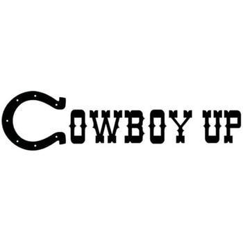 20x5 CM COWBOY UP kraju RODEO koń osobowość winylowa tablica naścienna samochód stylizacji samochodów naklejki S8-0999