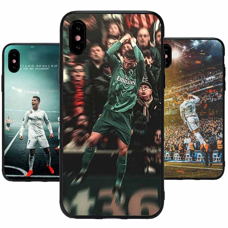 Real Madrid team phone case For iPhone 4 4s 5 5C SE 6 6plus 7 8plus X 10 Cover Mobile phone silica gel TPU shell.