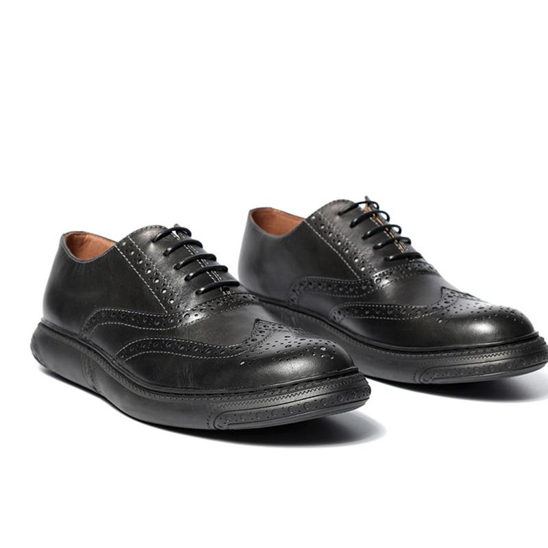 Clssical Mens Retro Brogue Shoes Round