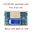 12A Step Down Module Adjustable Buck Power Supply Board With Digital LCD Display Z07 Drop ship