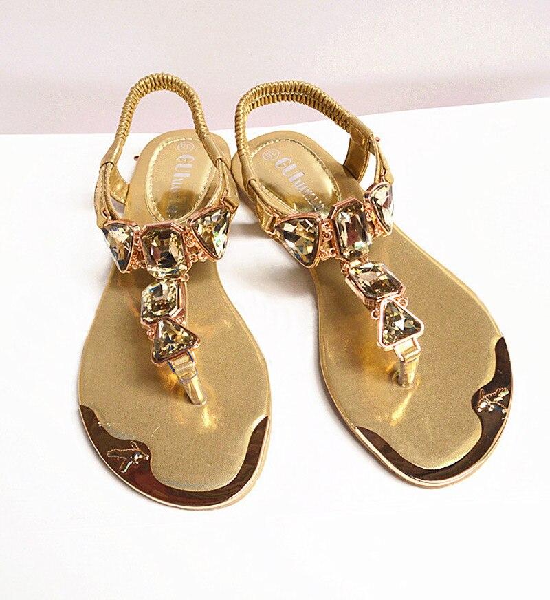 Shoes Women Sandals 2019 Hot Fashion Rhinestone Summer Shoes Women Sandals Clip Toe Women Shoes Sandalia Feminina