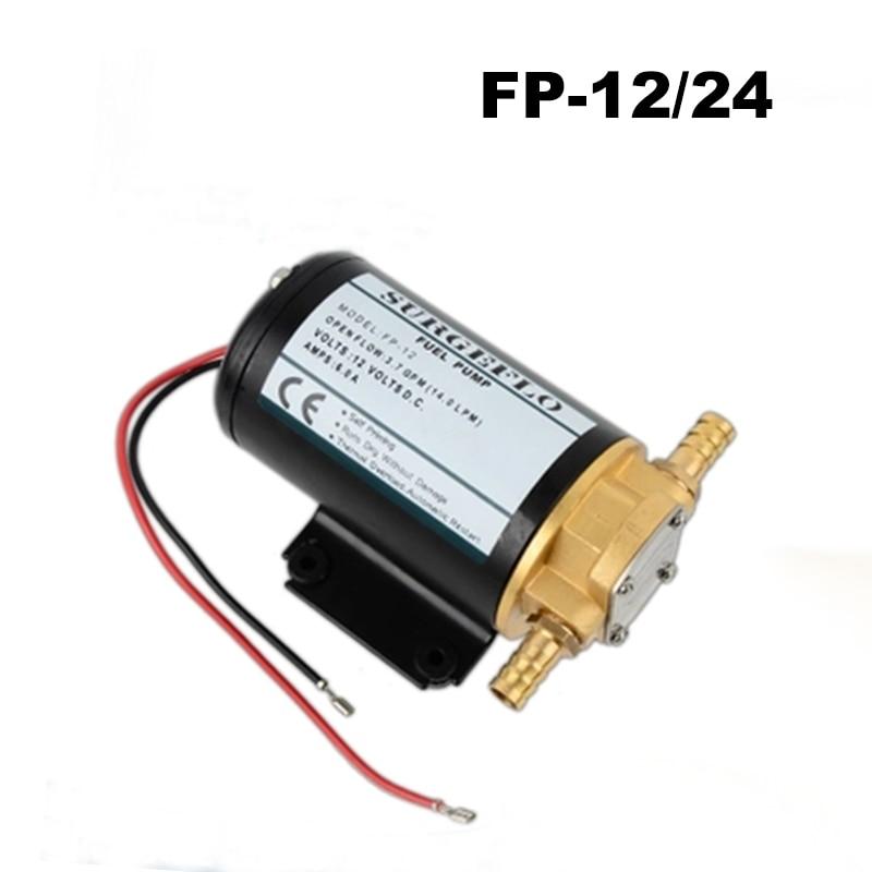 FP-12 12V DC Mini Electric Gear Pump Oil FP-24 24V Fuel Transfer Pump Horizontal Total Copper Material Gear Pump Diaphragm Pump