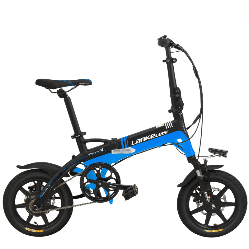A6 Elite 14 Inches Folding Electric Bicycle, 36V 8.7Ah Hidden Lithium Battery, Aluminum   Alloy Frame, Integrated Wheel