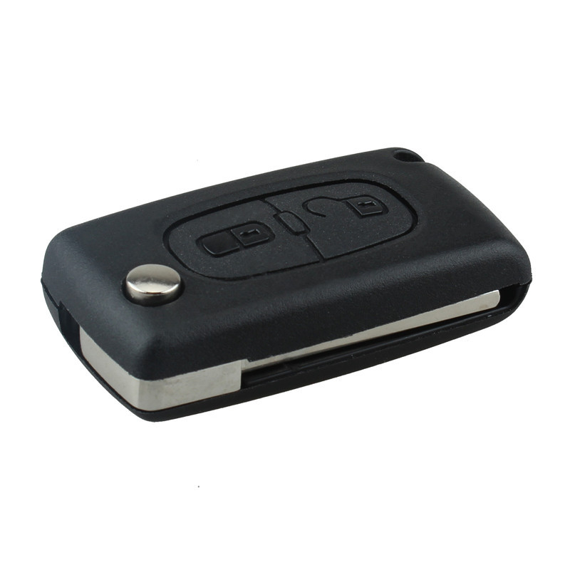 2 Buttons Refit Car Key Fit For Citroen C2 C3 C4 PICASSO C5 Remote Alarm Flip