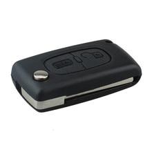 2 Кнопки Ремонт Автомобилей Ключ, Пригодный Для Citroen C2 C3 C4 PICASSO C5 Сигнализация Пульт Дистанционного Флип Брелок 433 МГц PCF7961 Замена Автомобиля ключ