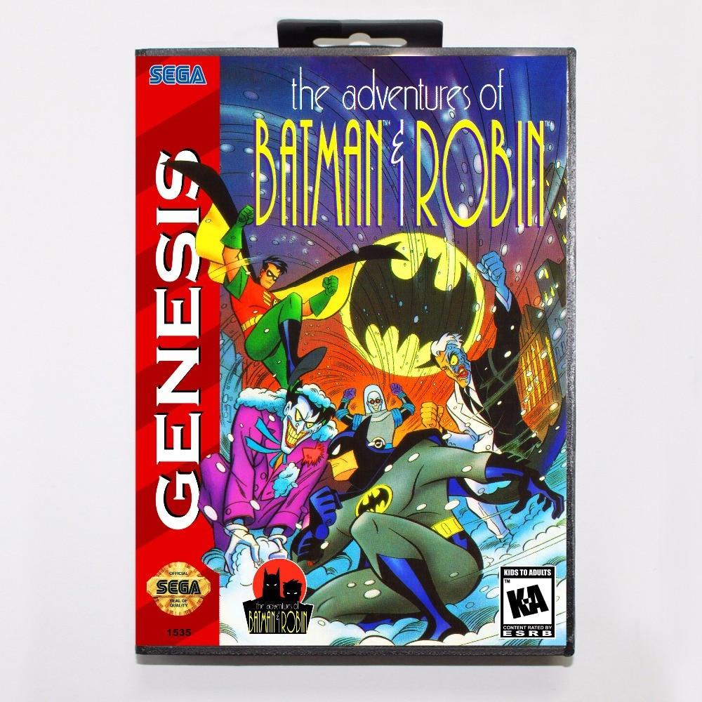 Adventures of Batman & Robin Game Cartridge 16 bit MD Game Card With Retail Box For Sega Mega Drive For Genesis
