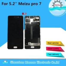"""M & Şen 5.2 """" Meizu Için pro 7 LCD ekran ekran + Dokunmatik panel Sayısallaştırıcı çerçeve ile beyaz/siyah Ücretsiz kargo"""