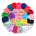 30 pcs/lot ,  3'' chiffon  rose  shabby flowers , chiffon flowers for baby accessories 25 colors