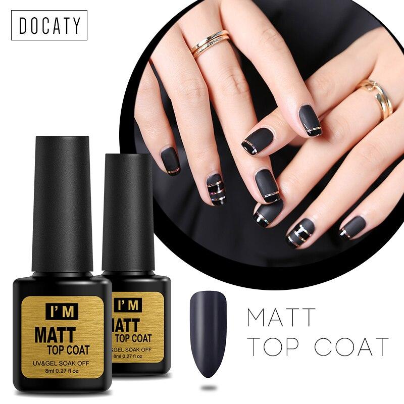 Docaty Gel Nail Polish Sale Matte Top Coat Gel Varnish - Onetime