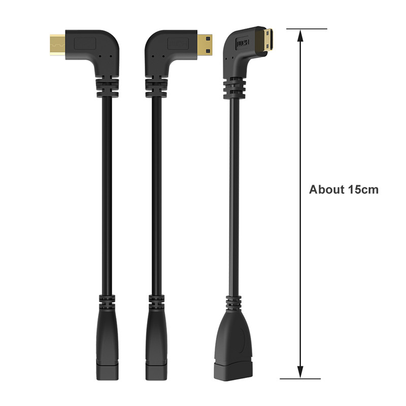 Image 5 - 90 Degree Right Angled Mini HDMI to HDMI Male to Female Cable for HDTV 1080p PS3 Evo HTC Vedio Gold Plated-in Computer Cables & Connectors from Computer & Office