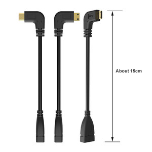 Image 5 - 90 Degree Right Angled Mini HDMI to HDMI Male to Female Cable for HDTV 1080p PS3 Evo HTC Vedio Gold Plated