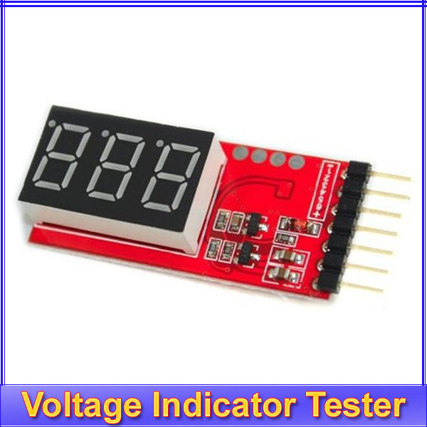 10pcs/lot Li-Po Battery Voltage Indicator Checker Tester 2S-6S 7.4V~22.2V + Register free shipping