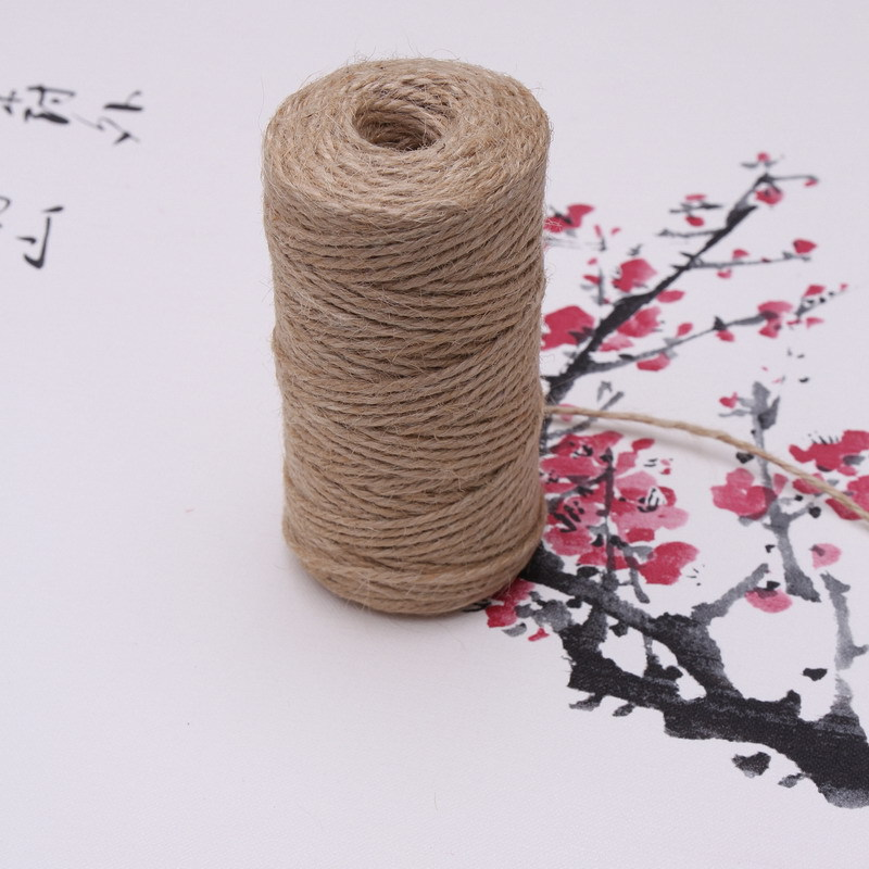 Jute rope DIY Rustic Wedding birthday party supplies decorations kids spring Material home decora easter baby shower 50g 40 yard