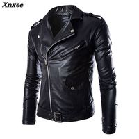 Men's Leather Jacket Fashion Brand Coat 2018 men Biker Jacket Homme Jaqueta De Couro Masculina PU Leather Mens Punk Veste Cuir