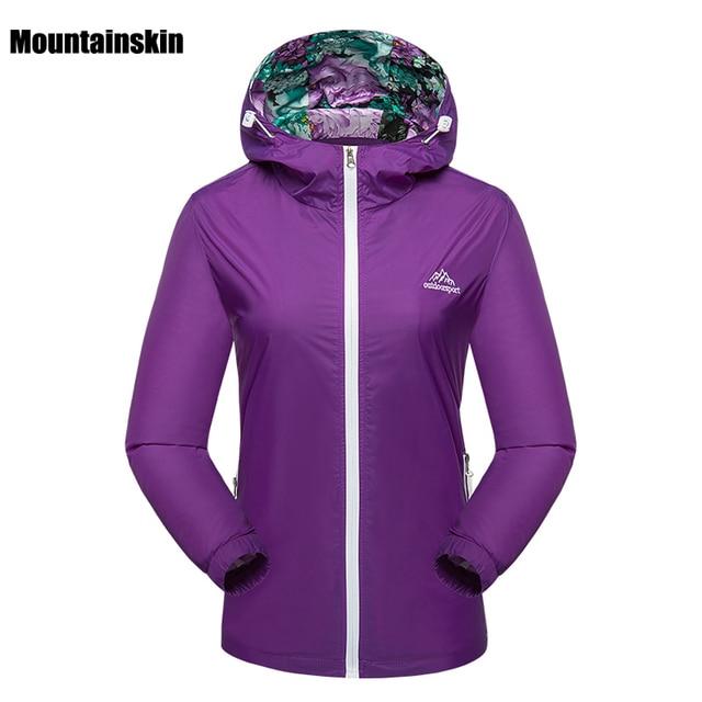 Mountainskin Primavera Respirável Quick Dry Jaquetas Esportivas Ao Ar Livre  das Mulheres À Prova D  5b7486de5350e