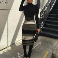 2 Piece Set Women Sexy Hollow Out Spring Work Business Fashion O Neck Slim Crop Top