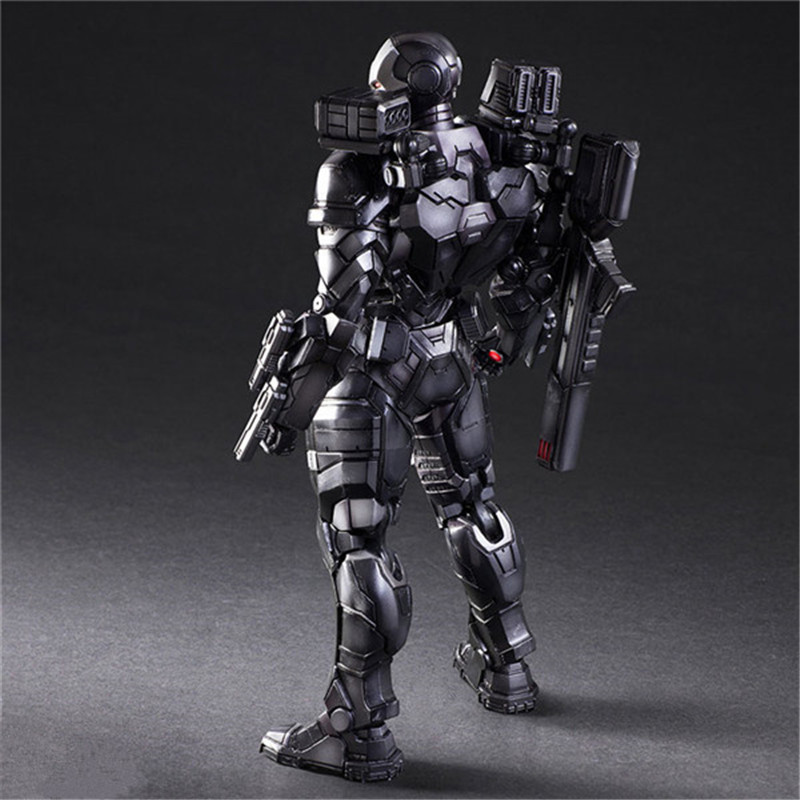 Luxury Super Heroes Iron Man Action Figure Toys Movie Grey Iron Man with Weapon Variable Figuras Dolls Brinquedos Cosplay Gift 27cm  (2)