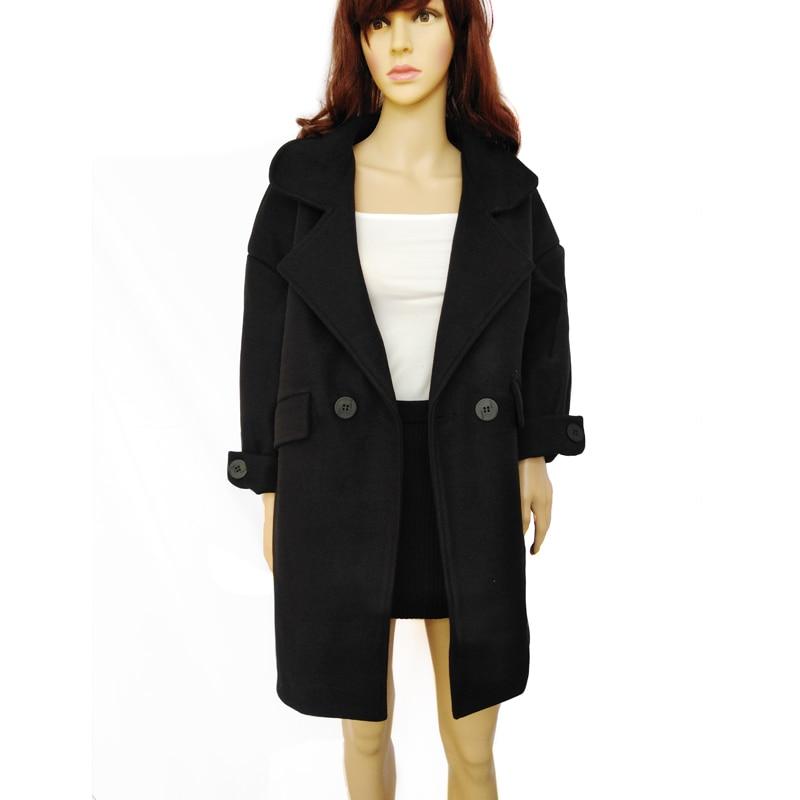 f1765f34f Lana Algodón De Abrigo Con Negro Largo Y Invierno Grueso Cálido Mujer Moda  Forro Para FWPfPrnx