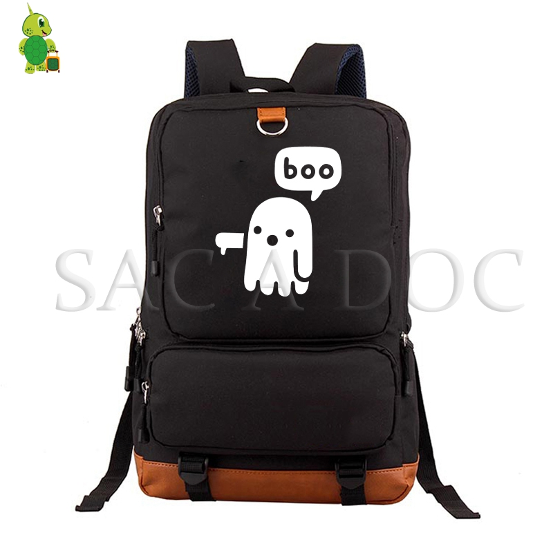 Boo Halloween Backpack Women Men Daily Laptop Backpack Casual Travel Rucksack for Teenagers Students Large School BagsBoo Halloween Backpack Women Men Daily Laptop Backpack Casual Travel Rucksack for Teenagers Students Large School Bags