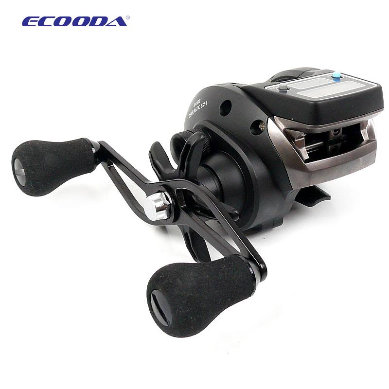 ECOODA OFB OFD 500 baitcasting reel Fishing Line Counter reel 6kg Drag 6 2 1 Electronic