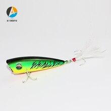 AI-SHOUYU 6cm 7g Popper Fishing Lures Hard Artificial Bait with 2 Treble Hooks Crankbait Minnow Swimming Crank Baits