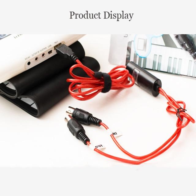 Nueva llegada USB a MIDI Cable purer Audio midi usb adaptador conexión música para teclado de piano Digital batería electrónica