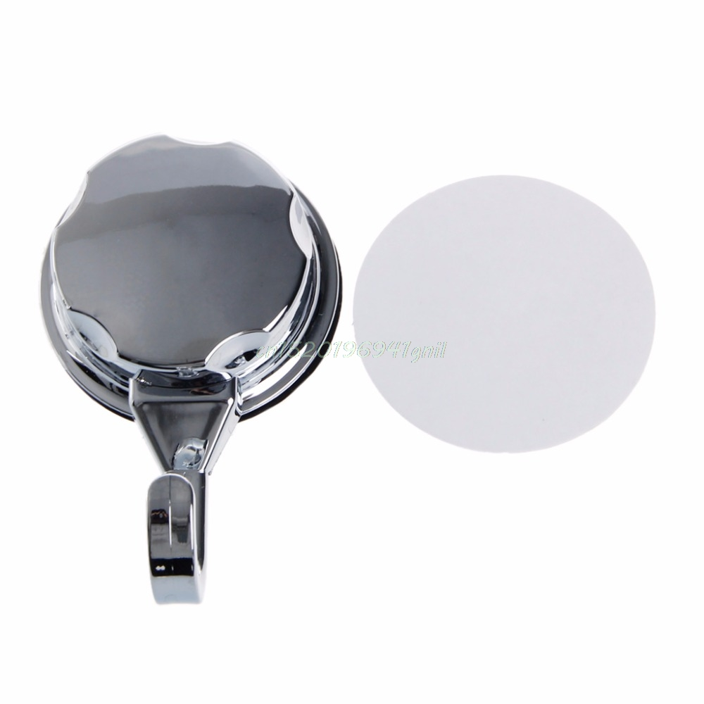 Chromed Suction Cup Kitchen Hooks for Towel Hooks Bathroom Wall Hook ...