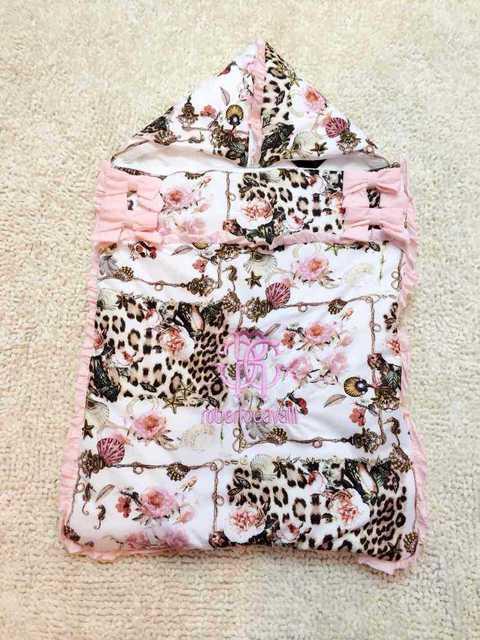 7 Style 100% cotton baby flowers Sleeping bag  Leopard  printing envelop peridium  infant butterfly print Slumber bag 70X42