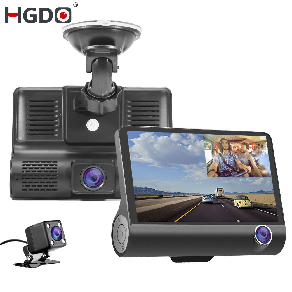 HGDO 3-Lens Car-Dvr-Camera Video-Recorder Dash-Cam Inside Auto-Registrator Rear-View