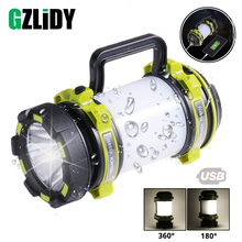 Super bright LED Flashlight Portable Spotlights searchlight XP-G2 USB Rechargeable torch led camping light working