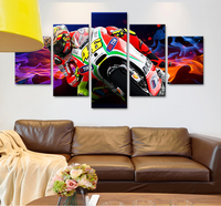 5 Pcs Of Canvas Art Modular Picture VR46 HD Motorcycle Poster Printed On Canvas For The