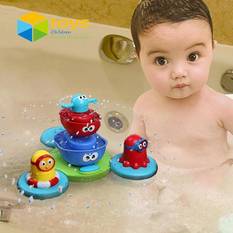 Baby Fountain Bath Toy Electric Floating Spraying Water Toy for ...
