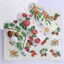 WUF 1 Sheet Fruit Nail Art Watermark Tattoo Tips Summer Cherry Style Nail Art Water Transfer Sticker DIY Beauty Nail Tools(China)