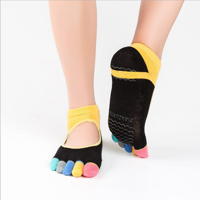 Women's Anti-Slip Rainbow Toe Socks