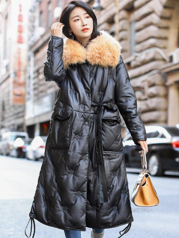 De Cuir Z994 Taille Veste Européenne Vêtements Femmes Le Bas Manteaux Vers En Véritable Réel Fourrure Manteau Noir Nouveau Peau Automne Hiver Plus La Mouton qPwWTBE0c