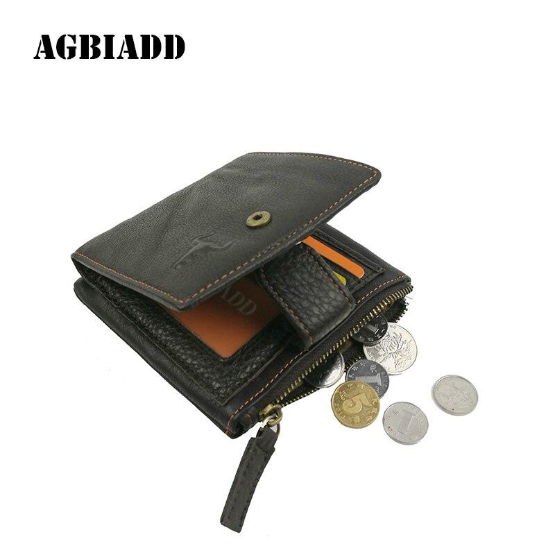 2017 Echtem Leder Männer Brieftaschen Mit Münzfach Haspe Design Schwarz Braun Brieftasche Reißverschlusstasche Multifunktions Großhandel Preis 172