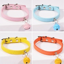 Collar for Cats Bell Cat Small Dog Puppy kitten Strap Necklace Pet flea Products Pets Head Collars black