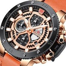 NAVIFORCE hommes montre affaires étanche hommes luxueux Date semaine affichage Quartz montre bracelet mâle horloge montres Relogio Masculino