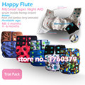 Happy Flute Baby Washable Reusable,Super Newborn and Small Night AI2 Pocket Diaper, Fit 0-6 months Baby,a diaper for whole night