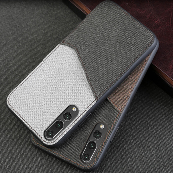 Canvas Phone Case For Huawei P10 p20 P20 Pro Lite Mate 10 Case Color stitching Back Cover For Honor 9 10 V9 V10 Nova 2 2S Case